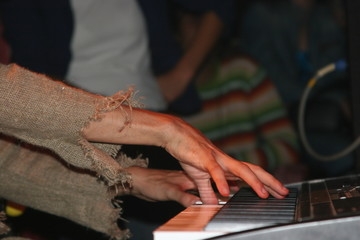 playing piano - 2