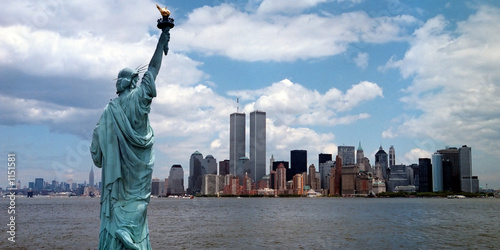 Foto op Canvas Historisch mon. new york harbor