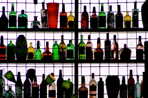 bottles on the wall - 1152920
