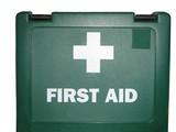 firt aid bag poster