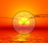 time of a sunset poster