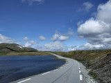 scenic summer road in norway poster