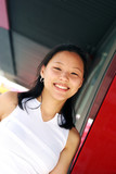 korean woman with a wide smile poster