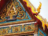 détail toit temple bouddhiste poster