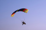 flying paraglider in the sky