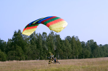 starting paraglider