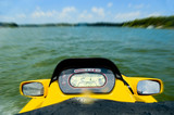 personal watercraft on lake poster