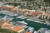 yacht marina poster