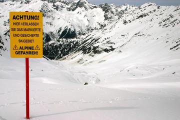 ski warning