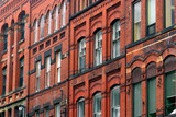 old building facade poster