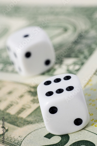 dice on money