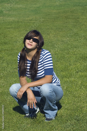 girl with pigtails and cool shades