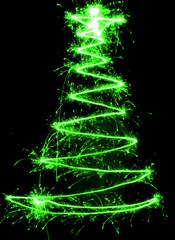 christmas tree sparkler