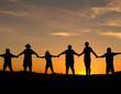 Leinwanddruck Bild - unity and strength