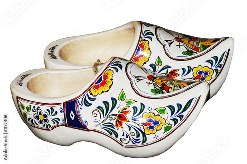 isolated wooden shoes