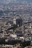 paris cityscape with triumph arch poster