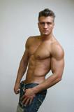 muscular male torso poster