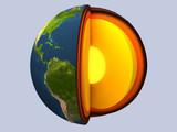 earth globe poster