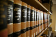 Leinwanddruck Bild - law books