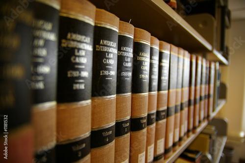 Leinwanddruck Bild law books