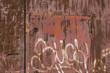 graffiti an blechtür