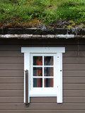 norwegian house with grass on the roof poster