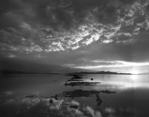 great salt lake black and white