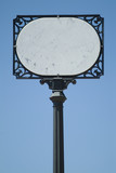 marble street sign poster