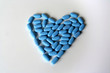 heart made with pills