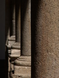 stone columns shadow poster