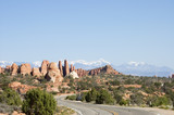 touring in arches national park 10 poster