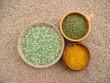 green lentils, mung beans & turmeric