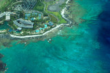 big island aerial shot - beach hotel poster
