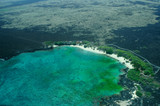 big island aerial shot - beach poster