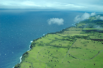 big island aerial shot - hilo coastline