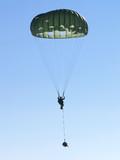military parachute jump poster