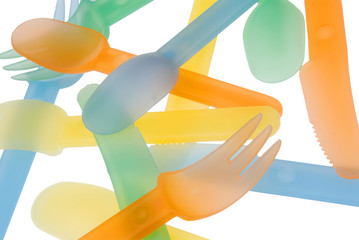 plastic flatware