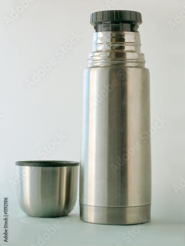 poster of metal vacuum bottle
