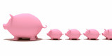 pigs money box - great and small thrifty people poster