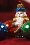 christmas ornaments- crystal santa claus poster