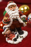 christmas decorations- santa claus figurine poster