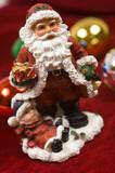 christmas decorations- santa claus figurine poster