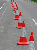 road cones poster