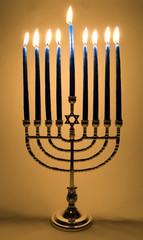 lighted menorah