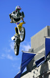 freestyle motorcycle jumping poster