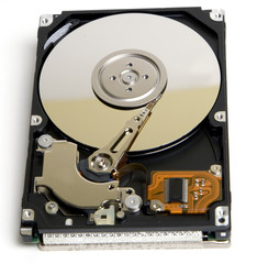 opened laptop hard drive