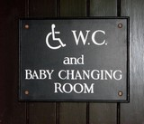 wc for disabled and baby changing room sign poster