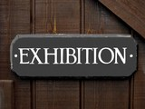 exhibition sign poster
