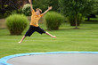 boy on trampoline