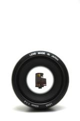 film through blurry lens